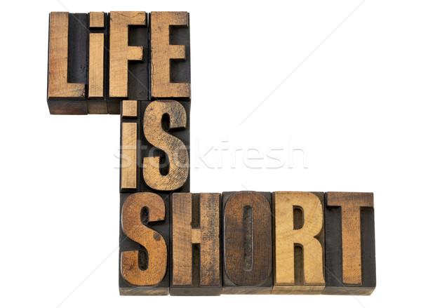 life is short phrase in wood type Stock photo © PixelsAway