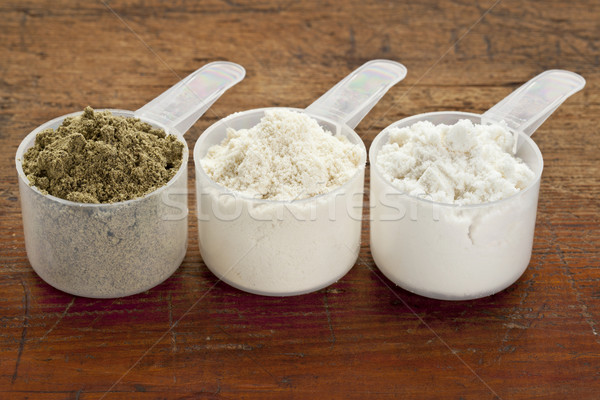 scoops of protein powder Stock photo © PixelsAway