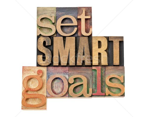 set SMART goals in wood type Stock photo © PixelsAway