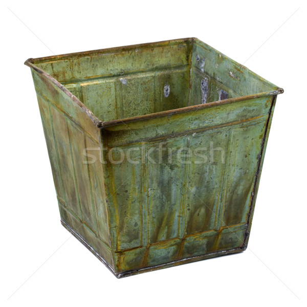 metal container with a grunge finish Stock photo © PixelsAway