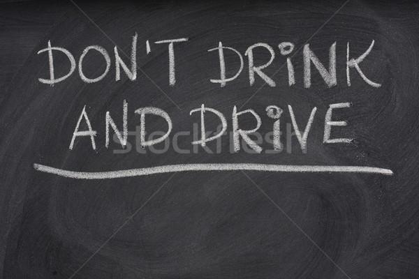 не пить дисков предупреждение доске Сток-фото © PixelsAway