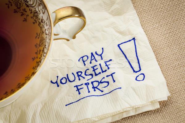 Stock fotó: Illetmény · magad · első · tanács · emlékeztető · személyes