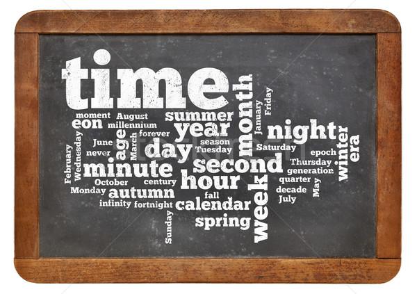time and calendar word cloud  Stock photo © PixelsAway