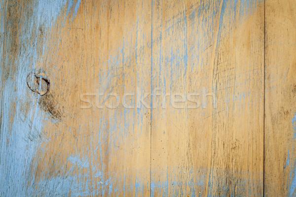 Verniciato scratch wood texture vecchio tagliere pane Foto d'archivio © PixelsAway
