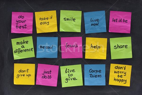uplifting and motivational words Stock photo © PixelsAway