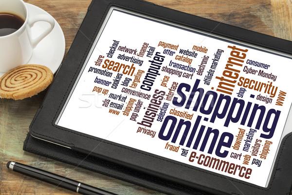 shopping online word cloud Stock photo © PixelsAway