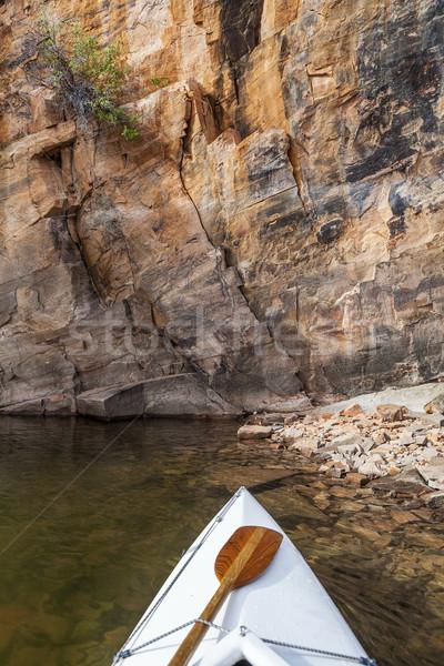 canoe on a Colorado lake Stock photo © PixelsAway