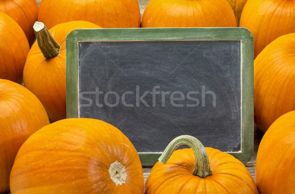 blank blackboard and pumpkin Stock photo © PixelsAway
