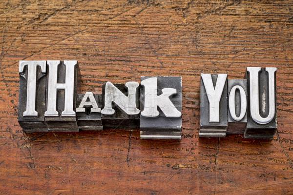 thank you in metal type Stock photo © PixelsAway