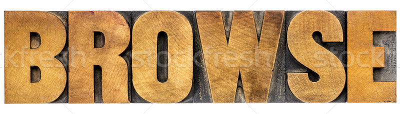 browse word typography Stock photo © PixelsAway