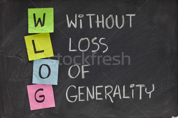 without loss of generality Stock photo © PixelsAway
