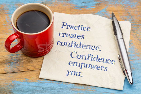 Practice created confidence and empowers you Stock photo © PixelsAway