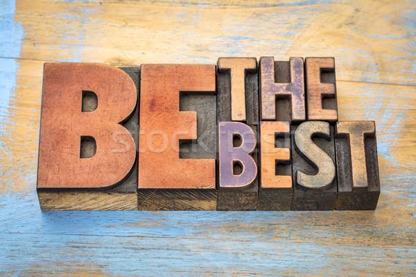 Meilleur mot résumé bois type vintage Photo stock © PixelsAway