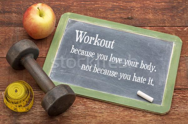 Entrenamiento amor cuerpo no odio fitness Foto stock © PixelsAway