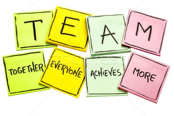 Team acroniem ingesteld sticky notes samen iedereen Stockfoto © PixelsAway