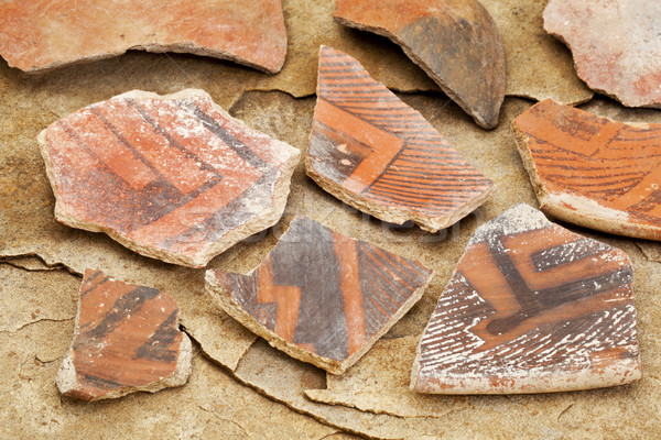 ősi cserépedények Arizona őslakos amerikai indián néhány Stock fotó © PixelsAway