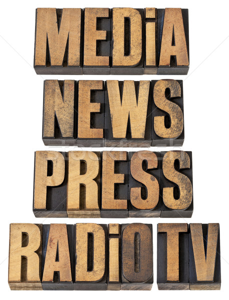 media, news, press, radio and tv Stock photo © PixelsAway