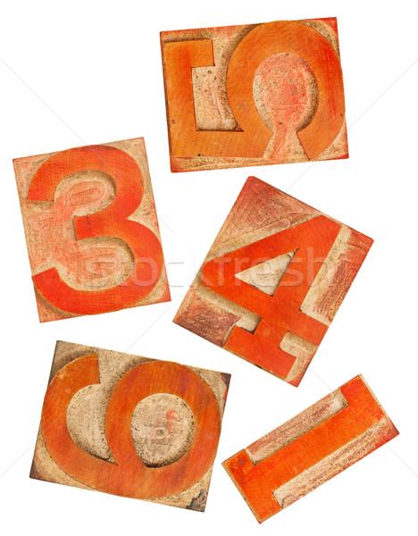красный оранжевый номера древесины тип выбранный Сток-фото © PixelsAway