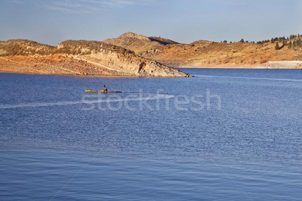 sea kayak on a Colorado mountain lake Stock photo © PixelsAway