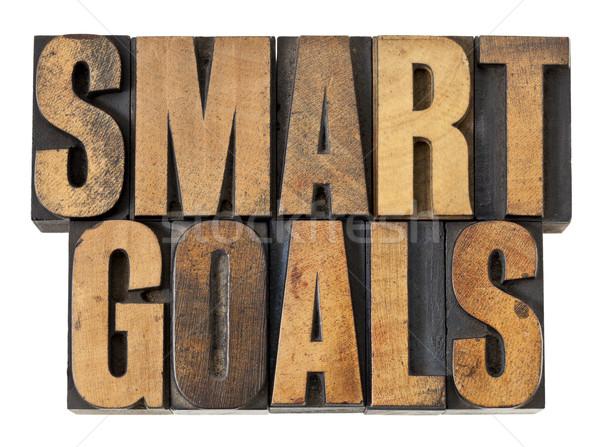 smart goals in wood type Stock photo © PixelsAway