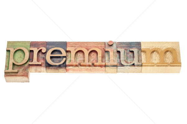 premium word in wood type Stock photo © PixelsAway