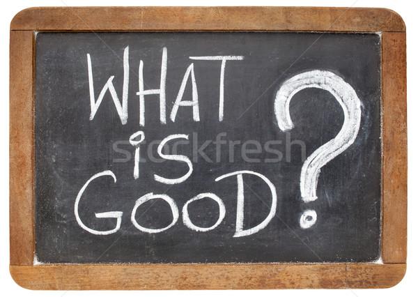 Mi jó kérdés etikus fehér kréta Stock fotó © PixelsAway