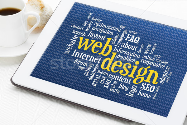 web design word cloud Stock photo © PixelsAway