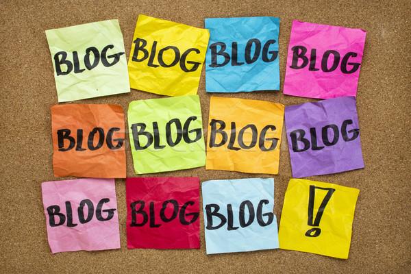 ブログ リマインダー インターネット 複数 付箋 WWWを ストックフォト © PixelsAway