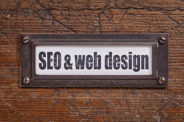 SEO and web design Stock photo © PixelsAway