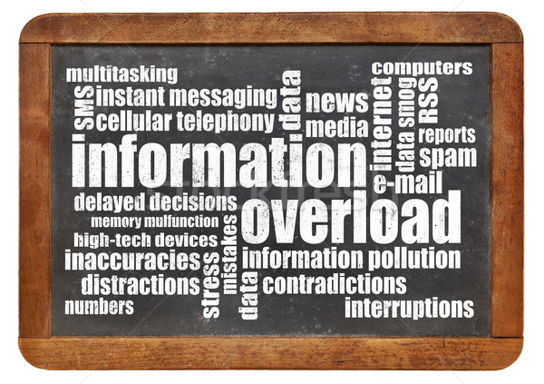 information overload concept Stock photo © PixelsAway