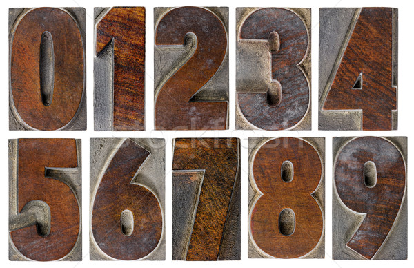 numbers in wood type Stock photo © PixelsAway