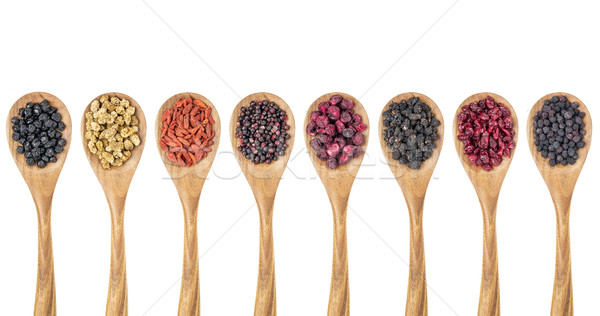 dried superfruit berry set Stock photo © PixelsAway