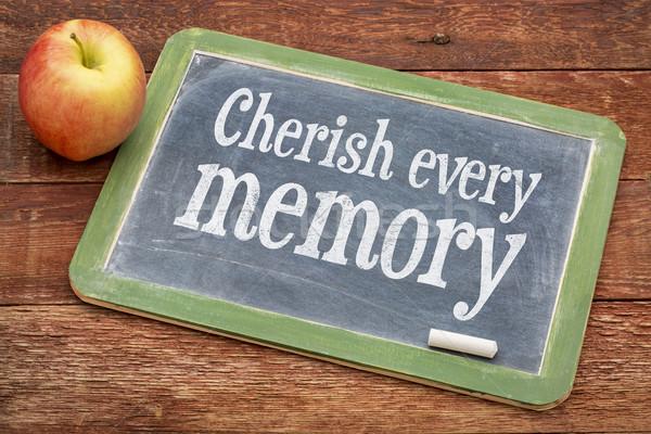 Cherish every memory on blackboard Stock photo © PixelsAway