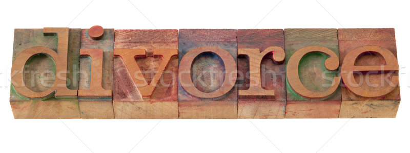 divorce word in letterpress type Stock photo © PixelsAway