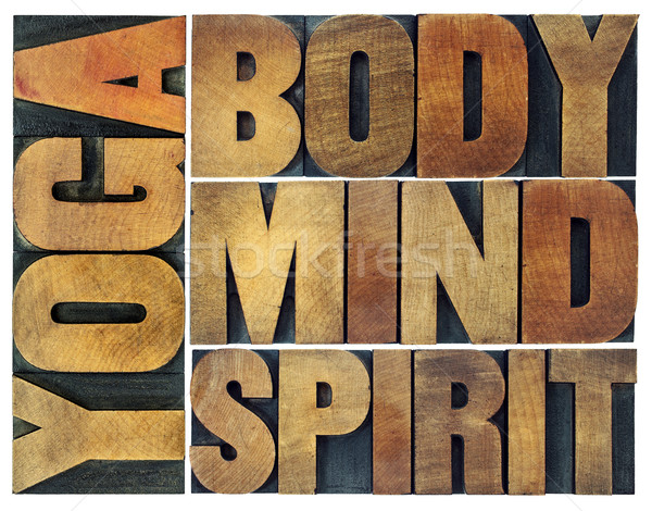 yoga, body, mind, soul and spirit Stock photo © PixelsAway