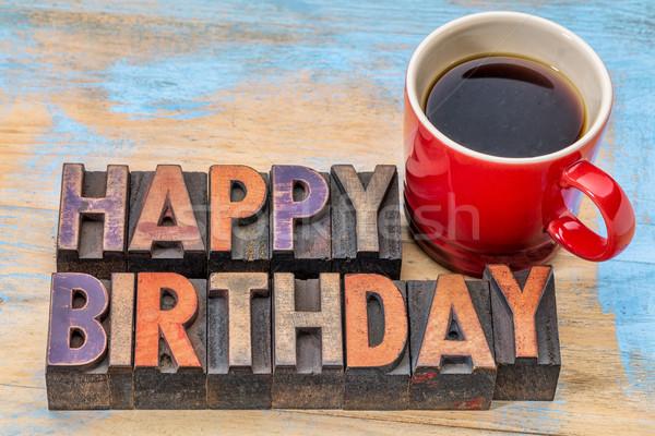 Stock photo: Happy Birthday greeting card