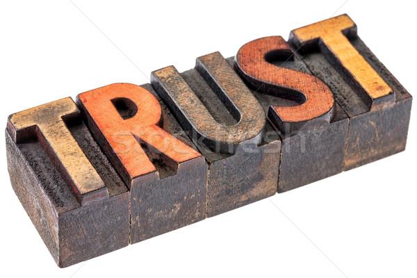 Stok fotoğraf: Güven · bağbozumu · ahşap · tip · kelime · soyut