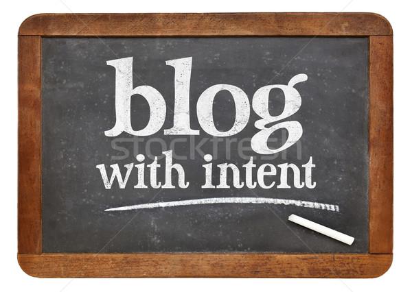 Blog szándék tanács emlékeztető blogolás klasszikus Stock fotó © PixelsAway