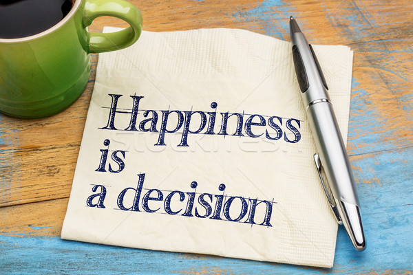 Stock photo: happiness is a decision