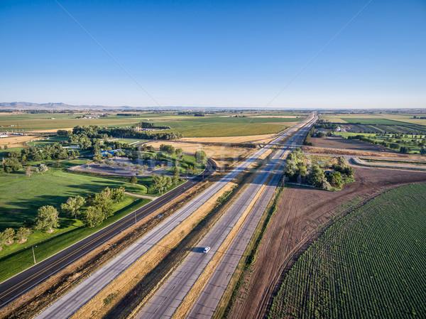 Snelweg noordelijk Colorado luchtfoto noorden fort Stockfoto © PixelsAway