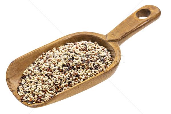 rustic scoop of quinoa grain Stock photo © PixelsAway