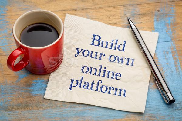 Construir propio línea consejo escritura Foto stock © PixelsAway