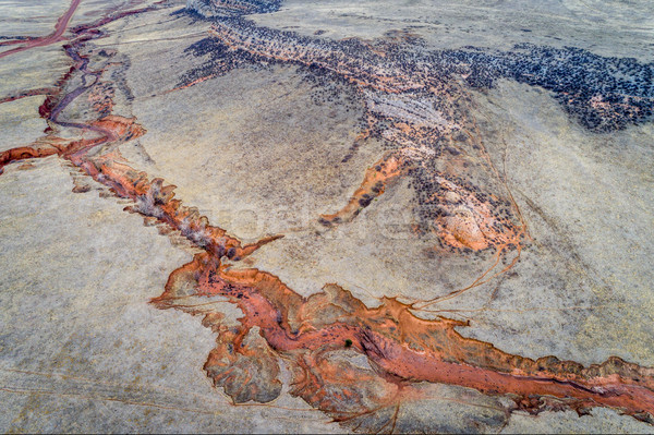 антенна пейзаж аннотация Колорадо высушите потока Сток-фото © PixelsAway