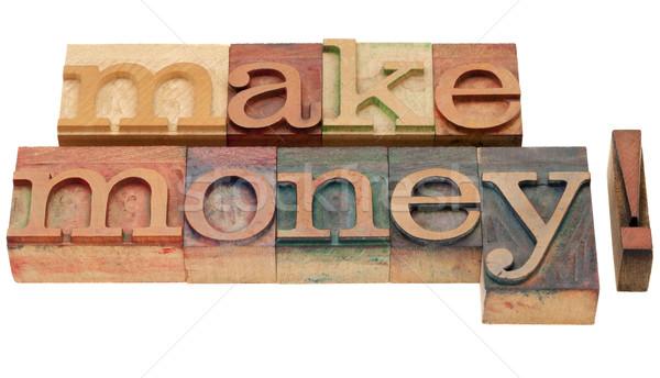 Gyártmány pénz magasnyomás izolált kifejezés Stock fotó © PixelsAway
