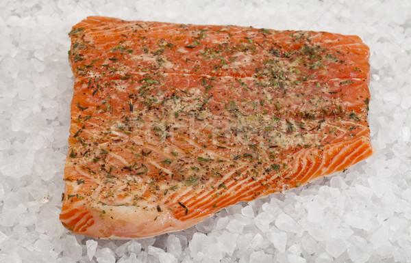 salmon on rock salt Stock photo © PixelsAway