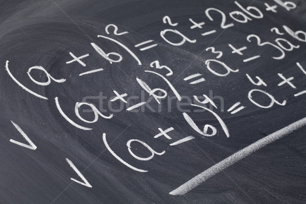 Matemático lousa educação álgebra branco Foto stock © PixelsAway
