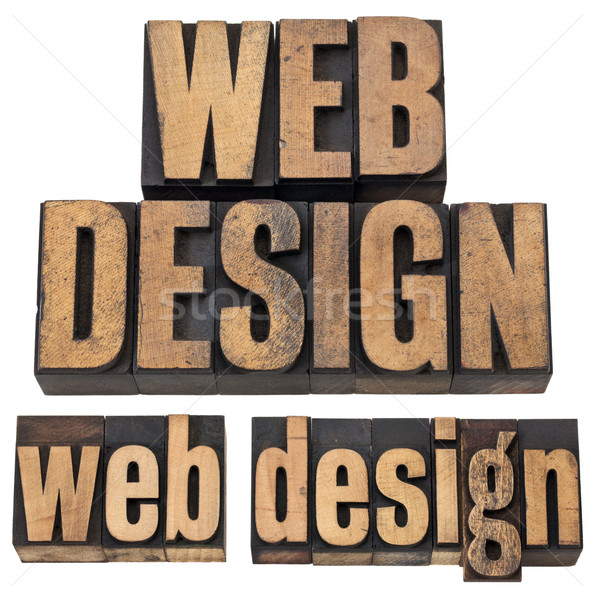 web design in letterpress type Stock photo © PixelsAway