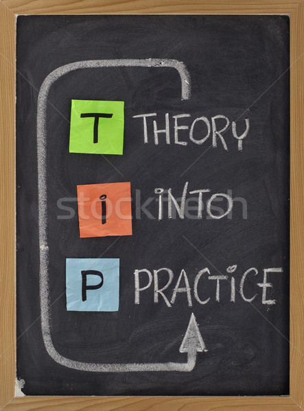 theory into practice - TIP acronym Stock photo © PixelsAway