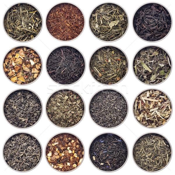 green, white, black and herbal tea Stock photo © PixelsAway