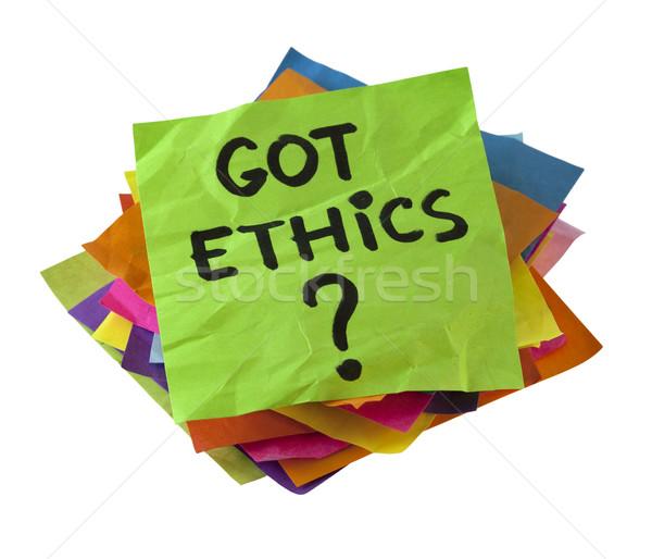 Etika etikus kérdés boglya színes emlékeztető Stock fotó © PixelsAway
